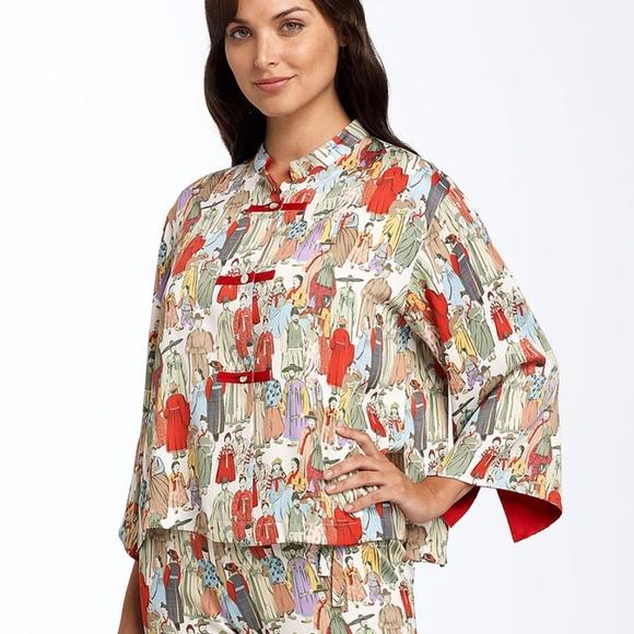 4b60c335d5120c Natori Intimates & Sleepwear | Dynasty Printed Pajama Top | Poshmark